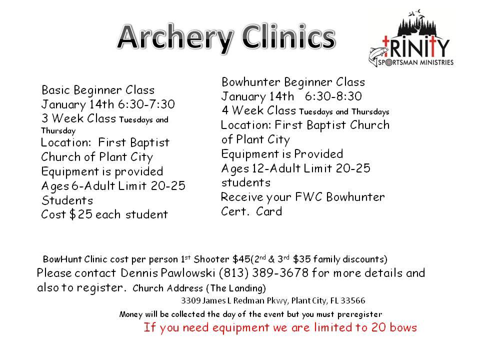 08-16-18 Trinity Sportsman Archery Clinic